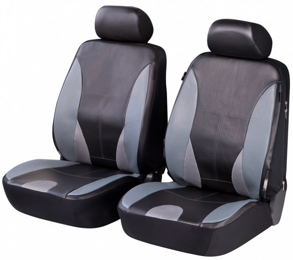 Suzuki, coprisedili, sedili anteriori, nero, grigio, finta pelle