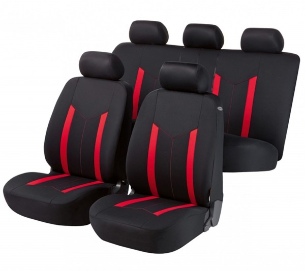 Renault Clio Grandtour, coprisedili, set completo, nero, rosso,