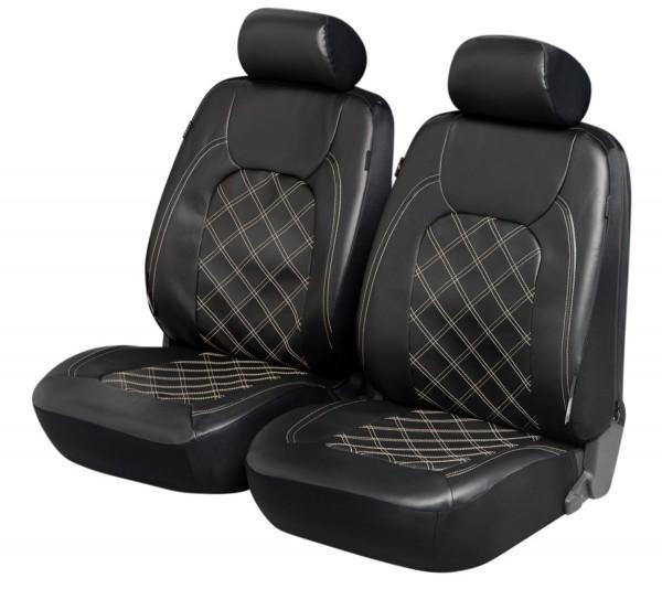 Suzuki set completo, coprisedili, set completo, nero, finta pelle
