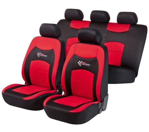 Hyundai ix35, coprisedili, set completo, nero, rosso,