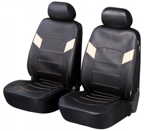 Volvo S60, coprisedili, sedile anteriore, nero, finta pelle