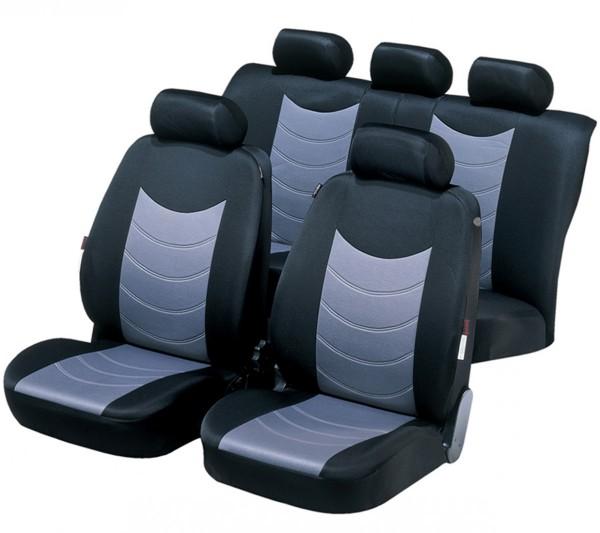 Opel Combo, coprisedili, set completo, nero, grigio,