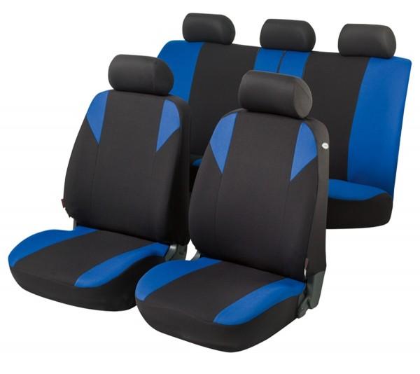 Opel Vectra-B-CC, coprisedili, set completo, nero, blu,