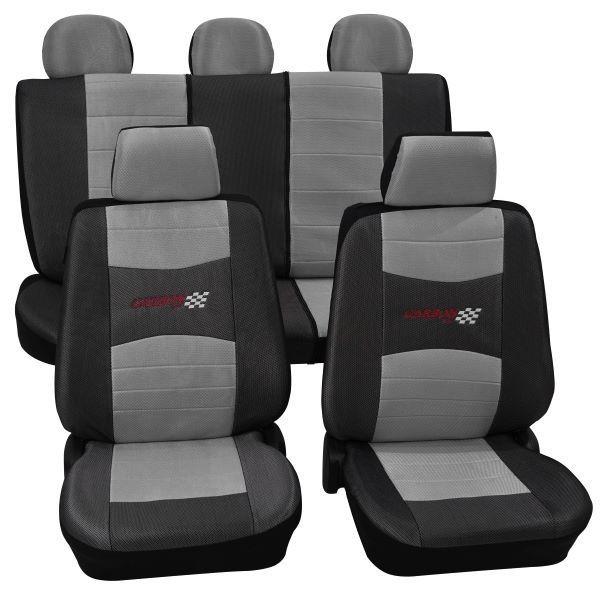 Coprisedili per auto, set completo, BMW, 3er (E30), 3er (E36), 3er (E46), 3er (E90-E93) a. Cabrio, Mini One/Cooper ,grigio